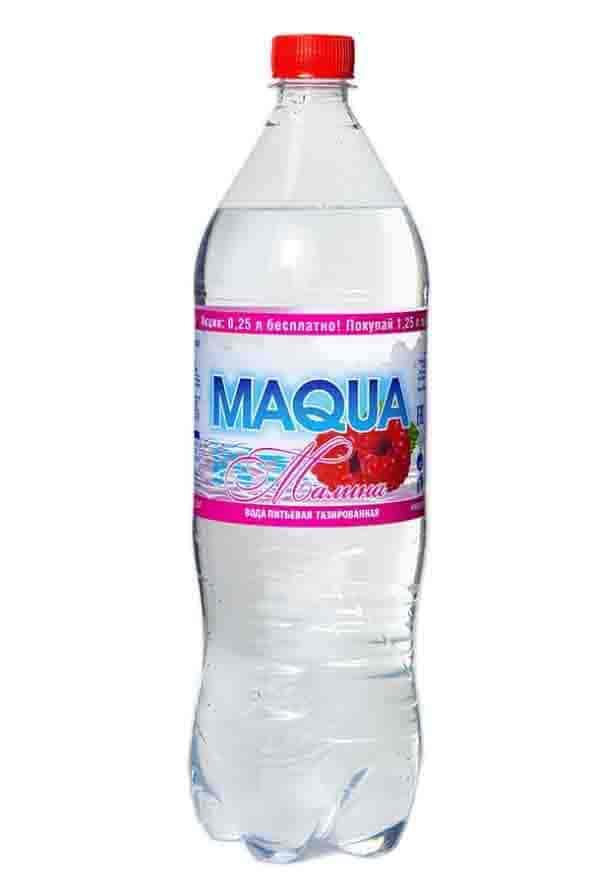 """Вода газированная """"Maqua"""" Малина 1,25 л"""