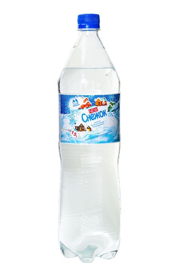"""Напиток безалкогольный газированный """"Maqua"""" Снежок 1,5 л."""