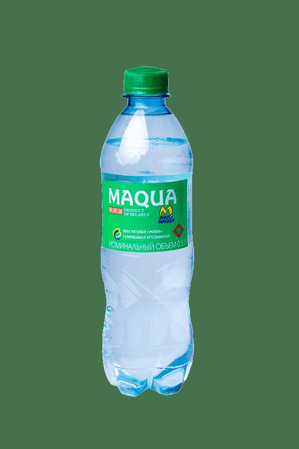"""Вода питьевая газированная """"MAQUA"""" 0,5л"""