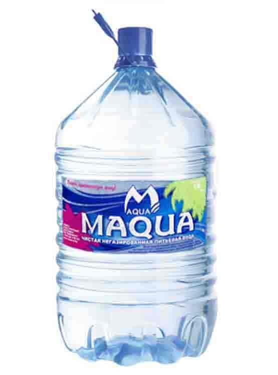 Питьевая вода Maqua в одноразовой бутылке 19л. (без залоговой стоимости)