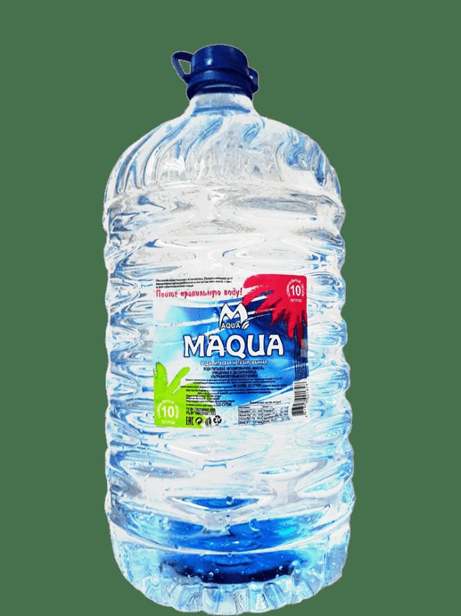 Вода питьевая негазированная MAQUA  объемом 10л